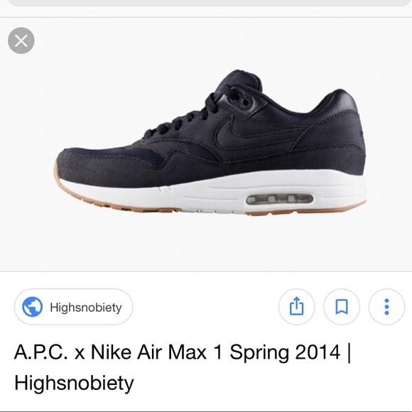 new styles d4a49 294fb Nike x APC Air Max 1. M5b627108819e9049a21a8db9